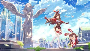Rating: Safe Score: 57 Tags: amber_(genshin_impact) animal bird blush boots brown_eyes brown_hair building clouds fang genshin_impact gloves headband long_hair petals rosuuri shorts sky thighhighs watermark zettai_ryouiki User: RyuZU