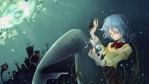 Rating: Safe Score: 31 Tags: mahou_shoujo_madoka_magica mermaid miki_sayaka yuzhi User: mattiasc02