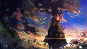Rating: Safe Score: 81 Tags: 2girls ame_channel blush building city clouds flowers japanese_clothes long_hair minakaze_ame purple_hair sakura_inu_(itoyatomo) samurai skirt sky sunset thighhighs User: BattlequeenYume
