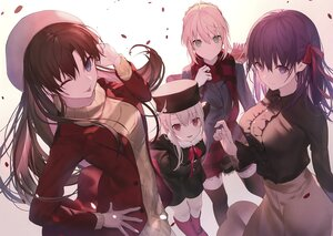 Rating: Safe Score: 72 Tags: artoria_pendragon_(all) black_hair blonde_hair blue_eyes boots cropped fate_(series) fate/stay_night green_eyes group hat illyasviel_von_einzbern loli long_hair matou_sakura petals purple_eyes purple_hair red_eyes saber scan shinooji thighhighs tohsaka_rin User: Nepcoheart