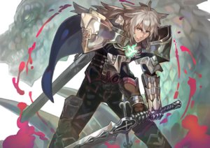 Rating: Safe Score: 57 Tags: all_male armor fate/grand_order fate_(series) gray_hair male naro0427 siegfried sword weapon User: Flandre93