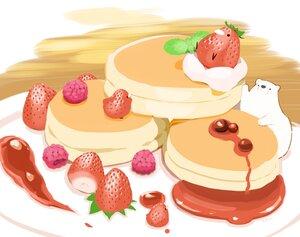 Rating: Safe Score: 15 Tags: animal bear bird cake chai_(artist) food fruit nobody original polychromatic signed strawberry User: otaku_emmy