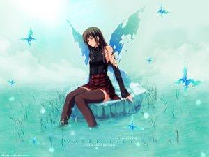 Rating: Safe Score: 71 Tags: blue brown_hair innocent_grey long_hair pianissimo shirakawa_ayane skirt sugina_miki thighhighs water wings User: Oyashiro-sama