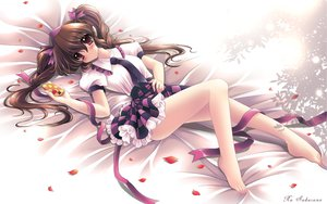 Rating: Safe Score: 74 Tags: barefoot byruu himekaidou_hatate petals ribbons skirt tie touhou twintails User: HawthorneKitty