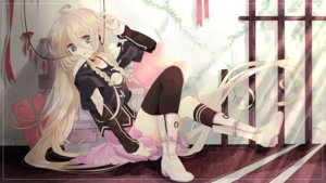 Rating: Safe Score: 75 Tags: blonde_hair blue_eyes boots braids headphones ia long_hair skirt vocaloid User: luckyluna