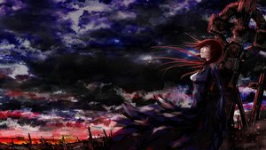 Rating: Safe Score: 111 Tags: clouds daisy_(invisibleworld) dark megurine_luka red_eyes red_hair sky vocaloid User: FormX