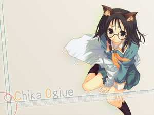 Rating: Safe Score: 36 Tags: animal_ears black_hair catgirl cosplay genshiken glasses mitsumi_misato ogiue_chika User: Oyashiro-sama