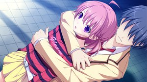 Rating: Safe Score: 64 Tags: fujikawa_runa game_cg hatsukoi_1/1 hug katagiri_yuuma male User: Maboroshi