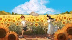 Rating: Safe Score: 2 Tags: dress flowers original sunflower yog_harukawa User: Fepple