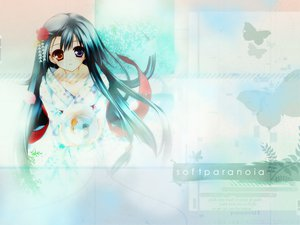 Rating: Safe Score: 26 Tags: animal bicolored_eyes black_hair butterfly fish flowers japanese_clothes long_hair User: Oyashiro-sama