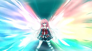 Rating: Safe Score: 87 Tags: fortissimo//akkord:bsusvier game_cg ooba_kagerou red_hair satomura_momiji wings User: Wiresetc