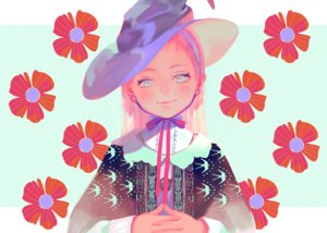 Rating: Safe Score: 20 Tags: aqua_eyes hat long_hair original pink_hair ribbons satomatoma witch_hat User: RyuZU