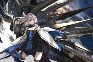 Rating: Safe Score: 160 Tags: gray_hair original paradise_(pffk) pixiv_fantasia red_eyes scarf signed swd3e2 weapon User: FormX