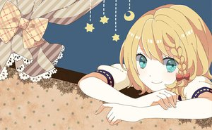 Rating: Safe Score: 36 Tags: aqua_eyes blonde_hair bow kagamine_rin monaco_(rmn02) vocaloid User: opai