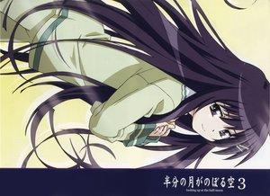 Rating: Safe Score: 4 Tags: akiba_rika hanbun_no_tsuki_ga_noboru_sora long_hair purple_eyes purple_hair scan User: 秀悟