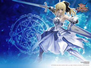 Rating: Safe Score: 58 Tags: armor blonde_hair dress fate_(series) fate/stay_night fate/unlimited_codes figure green_eyes jpeg_artifacts magic ponytail saber saber_lily sword weapon User: jjjjjhhhhh