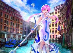 Rating: Safe Score: 48 Tags: aria boat building green_eyes mamoru mizunashi_akari pink_hair water User: FormX