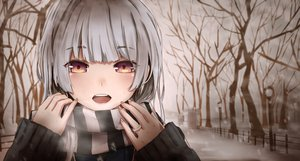 Rating: Safe Score: 161 Tags: gray_hair magicians original pink_eyes scarf tree winter User: Maboroshi