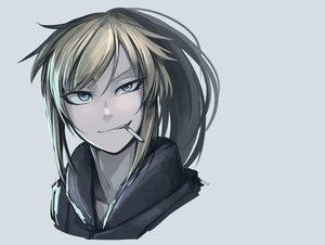 Rating: Safe Score: 171 Tags: blonde_hair blue_eyes cigarette hellshock original ponytail suzumi_(hellshock) User: TommyGunn