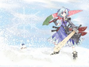 Rating: Safe Score: 27 Tags: advent_cirno cirno snow sword touhou weapon User: Tensa