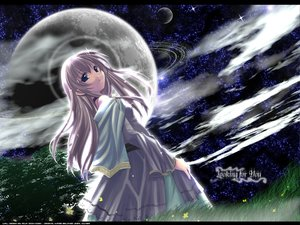 Rating: Safe Score: 11 Tags: long_hair moon naruse_chisato sky tagme User: 秀悟