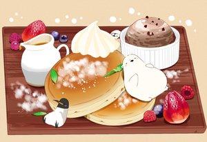 Rating: Safe Score: 25 Tags: animal bear bird cake chai_(artist) food fruit ice_cream original penguin signed strawberry User: otaku_emmy