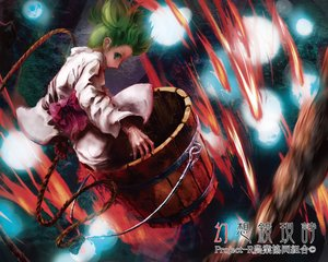 Rating: Safe Score: 55 Tags: bow fire green_eyes green_hair japanese_clothes kabihuton kisume short_hair touhou yukata User: minabiStrikesAgain
