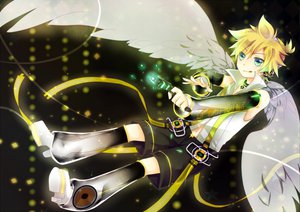 Rating: Safe Score: 18 Tags: all_male blonde_hair blue_eyes boots gomano_rio gun headphones kagamine_len len_append male short_hair vocaloid weapon wings User: HawthorneKitty