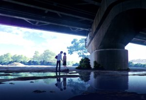 Rating: Safe Score: 89 Tags: clouds kneehighs male mocha_(cotton) original reflection school_uniform short_hair signed skirt sky tree water User: RyuZU