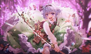 Rating: Safe Score: 51 Tags: butterfly daikazoku63 katana konpaku_youmu short_hair signed sword touhou weapon User: Dreista