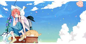 Rating: Safe Score: 34 Tags: all_male animal bird cat clouds duck fish flowers green_eyes male minmin_(artist) red_hair sanada_yuki short_hair sky tsuritama waifu2x User: luckyluna