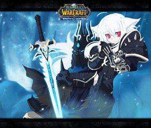 Rating: Safe Score: 156 Tags: animal_ears auer inubashiri_momiji jpeg_artifacts long_hair parody sword touhou weapon white_hair wolfgirl world_of_warcraft User: w7382001