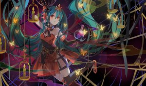 Rating: Safe Score: 78 Tags: aqua_hair bow breasts butterfly cleavage cross elbow_gloves gloves halloween hatsune_miku jpeg_artifacts long_hair orange_eyes shadowsinking thighhighs tiara twintails vocaloid User: luckyluna