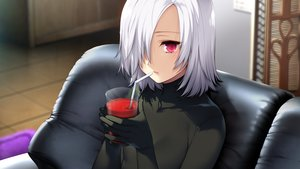 Rating: Safe Score: 102 Tags: akeiro_kaikitan bodysuit drink game_cg red_eyes short_hair silkys_plus sumeragi_kohaku velvet white_hair User: mattiasc02