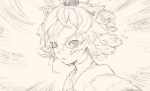 Rating: Safe Score: 61 Tags: animal_ears close hat inubashiri_momiji monochrome short_hair sketch touhou wolfgirl yuu-rin User: otaku_emmy