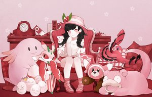 Rating: Safe Score: 60 Tags: baiguiyu black_hair book braids chansey exeggcute flowers hat long_hair lurantis mizuki_(pokemon) oricorio pink pokemon red red_eyes shorts slowpoke stufful twintails User: BattlequeenYume
