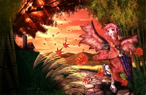 Rating: Safe Score: 73 Tags: autumn ddfftasogare grass japanese_clothes mystia_lorelei pink_eyes pink_hair short_hair touhou wings User: C4R10Z123GT