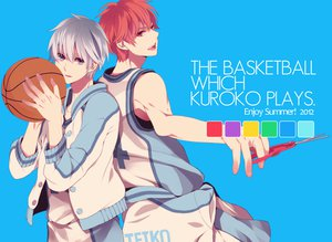 Rating: Safe Score: 44 Tags: all_male ball basketball blue_eyes gray_hair kagami_taiga kuroko_no_basket kuroko_tetsuya macco male red_eyes red_hair short_hair sport User: rlyeh
