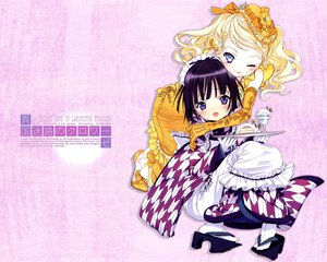 Rating: Safe Score: 27 Tags: 2girls alice_blanche apron black_hair blonde_hair blue_eyes blush cake dress elbow_gloves food gloves hat headdress ikoku_meiro_no_croisee japanese_clothes purple_eyes short_hair takeda_hinata waitress wink yune_(ikoku_meiro_no_croisee) User: w7382001