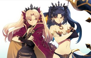 Rating: Safe Score: 83 Tags: 2girls black_hair blonde_hair breasts cape elbow_gloves ereshkigal_(fate/grand_order) fate/grand_order fate_(series) gloves ishtar_(fate/grand_order) long_hair navel ryota-h twintails User: RyuZU