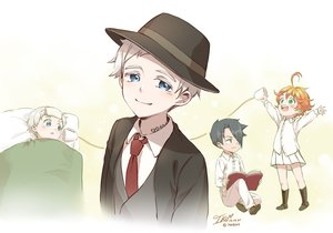 Rating: Safe Score: 13 Tags: bed black_eyes black_hair blue_eyes book boots emma_(yakusoku_no_neverland) gray_hair green_eyes ika_(4801055) loli male norman_(yakusoku_no_neverland) orange_hair ray_(yakusoku_no_neverland) short_hair signed skirt tattoo tie yakusoku_no_neverland User: RyuZU