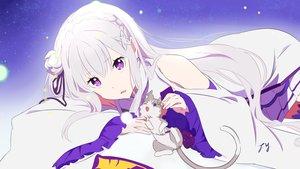 Rating: Safe Score: 138 Tags: animal cat dress emilia_(re:zero) long_hair puck purple_eyes re:zero_kara_hajimeru_isekai_seikatsu signed tagme_(artist) white_hair User: RyuZU