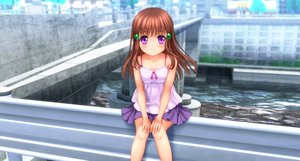 Rating: Safe Score: 33 Tags: brown_hair loli long_hair moonknives original purple_eyes User: gnarf1975