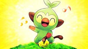 Rating: Safe Score: 10 Tags: aliasing close food fruit grass grookey higa-tsubasa music pokemon polychromatic yellow User: otaku_emmy