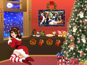 Rating: Safe Score: 34 Tags: angel asahina_mikuru chibi christmas hat koizumi_itsuki kyon male nagato_yuki santa_costume santa_hat signed suzumiya_haruhi suzumiya_haruhi_no_yuutsu watermark winter User: Oyashiro-sama