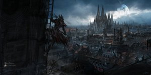 Rating: Safe Score: 159 Tags: bloodborne building city clouds gun hat long_hair moon night signed sky stu_dts the_hunter weapon User: otaku_emmy