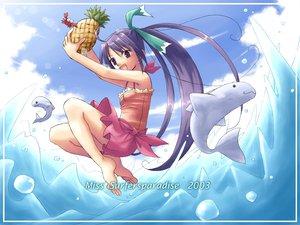 Rating: Safe Score: 8 Tags: beach food fruit miss_surfersparadise swimsuit User: Oyashiro-sama