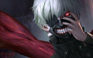 Rating: Safe Score: 82 Tags: all_male cangkong kaneki_ken male red_eyes tokyo_ghoul white_hair User: mattiasc02