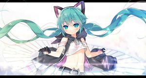 Rating: Safe Score: 154 Tags: animal_ears aqua_eyes aqua_hair gloves hatsune_miku loli navel saru twintails vocaloid User: FormX