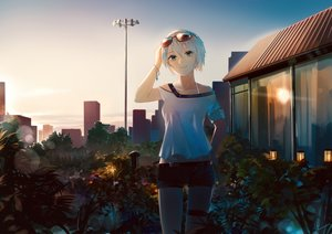 Rating: Safe Score: 61 Tags: flowers leiq shorts sunglasses vocaloid vocaloid_china yan_he User: FormX